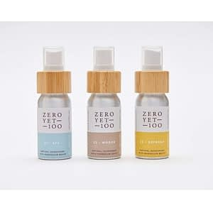 mini natural deodorant spray set