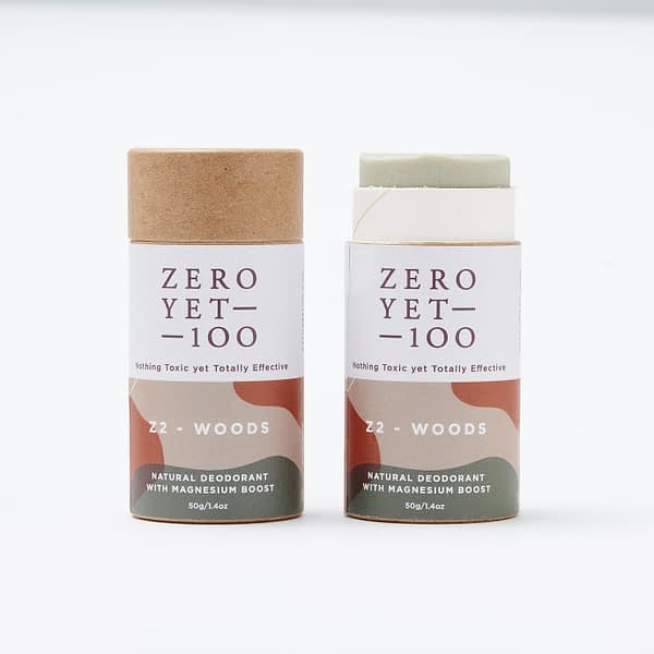 Z2 Woods Deodorant Push Up Stick | Chemical Free | ZeroYet100