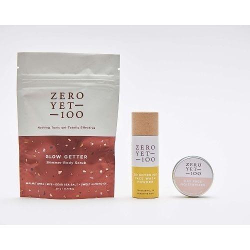 glow getter natural skincare gift set | zeroyet100