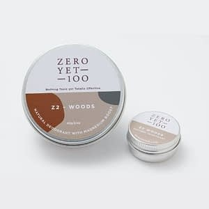 z2 Woods Natural Deodorant Pot | Normal and Travel Size